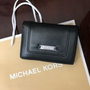 Michael Kors  black leather bifold wallet
